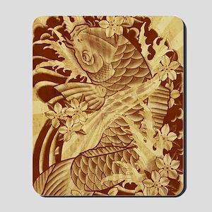 vintage japanese koi fish Mousepad