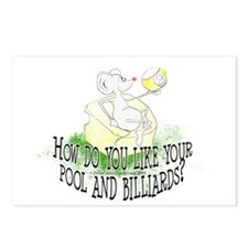 OTC Billiard Mouse Cartoo Postcards (Package of 8)