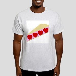 Valentine Pie Ash Grey T-Shirt
