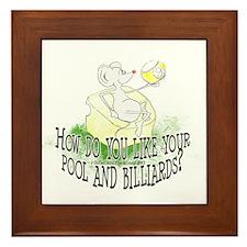 OTC Billiard Mouse Cartoon Framed Tile