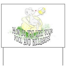 OTC Billiard Mouse Cartoon Yard Sign