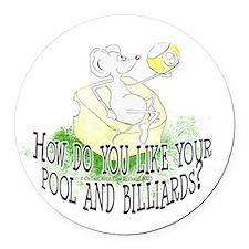 OTC Billiard Mouse Cartoon Round Car Magnet