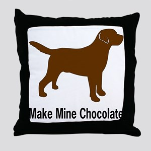 ChocMakeMine2 Throw Pillow