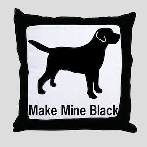 BlkMakeMine Throw Pillow