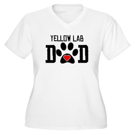Yellow Lab Dad Plus Size T-Shirt