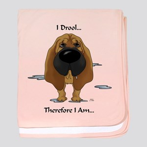 Bloodhound - I Drool baby blanket