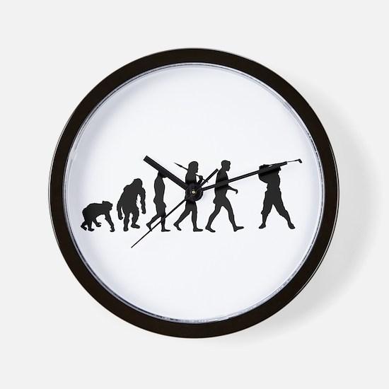 Golf Evolution Wall Clock