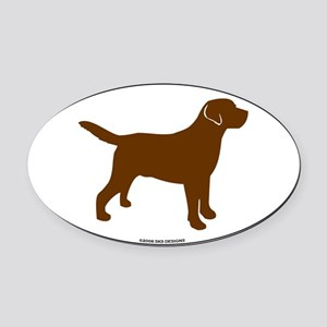 ChocLabSill Oval Car Magnet