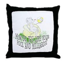 OTC Billiard Mouse Cartoon Throw Pillow