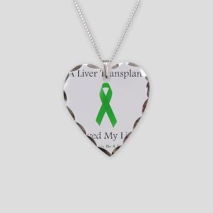LiverTransplantSaved Necklace Heart Charm