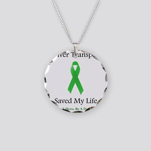 LiverTransplantSaved Necklace Circle Charm