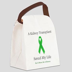 KidneyTransplantSaved Canvas Lunch Bag