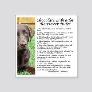 "ChocLabRules Square Sticker 3"" x 3"""