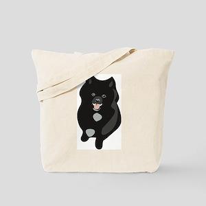 Black Pomeranian Puppy Tote Bag