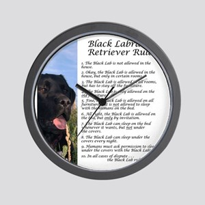 BlackLabRules Wall Clock