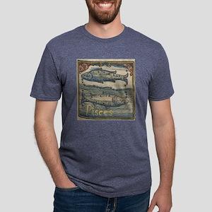 Pisces Woodcut Mens Tri-blend T-Shirt
