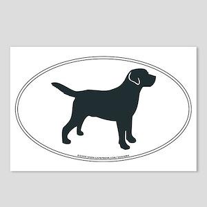 LabradorOvalSill Postcards (Package of 8)