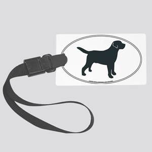 LabradorOvalSill Large Luggage Tag