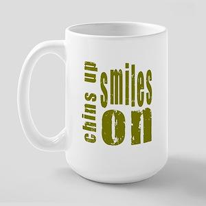 Chins Up Smiles On Large Mug