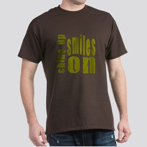Chins Up Smiles On Dark T-Shirt