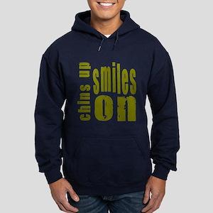 Chins Up Smiles On Hoodie (dark)