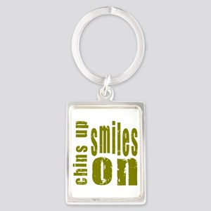 Chins Up Smiles On Portrait Keychain