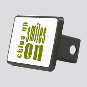 Chins Up Smiles On Rectangular Hitch Cover