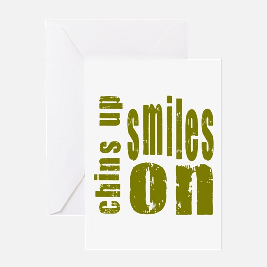 Chins Up Smiles On Greeting Card