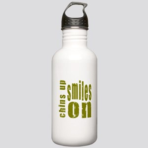 Chins Up Smiles On Stainless Water Bottle 1.0L