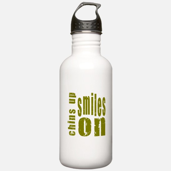 Chins Up Smiles On Sports Water Bottle