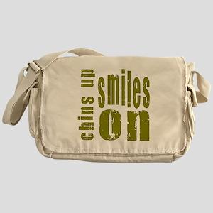 Chins Up Smiles On Messenger Bag
