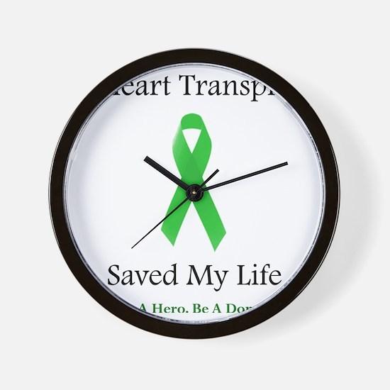 HeartTransplantSaved Wall Clock