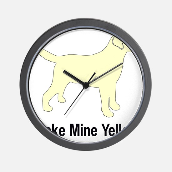 YellMakeMine2 Wall Clock