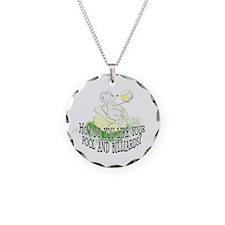 OTC Billiard Mouse Cartoon Necklace Circle Charm