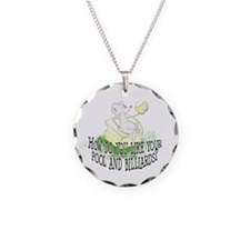 OTC Billiard Mouse Cartoon Necklace Circle Charm