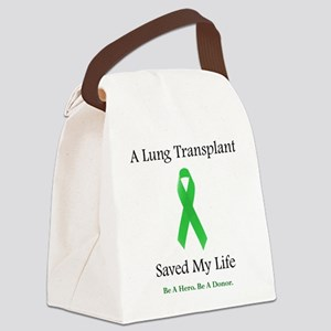 LungTransplantSaved Canvas Lunch Bag