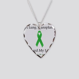 LungTransplantSaved Necklace Heart Charm