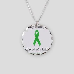 LungTransplantSaved Necklace Circle Charm