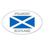 Polmont Scotland Sticker (Oval 50 pk)