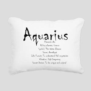 Aquarius Traits Rectangular Canvas Pillow