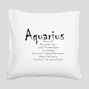 Aquarius Traits Square Canvas Pillow