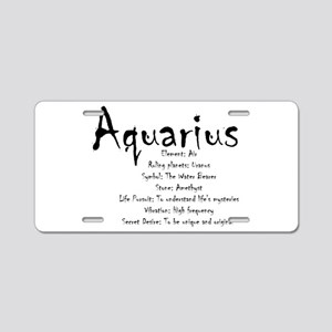 Aquarius Traits Aluminum License Plate