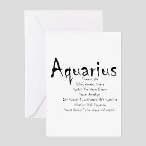 Aquarius Traits Greeting Card