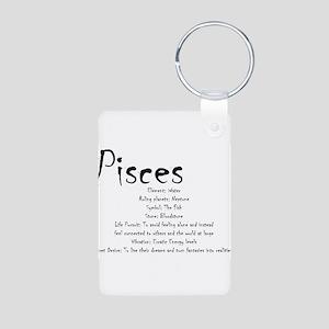 Pisces Traits Aluminum Photo Keychain