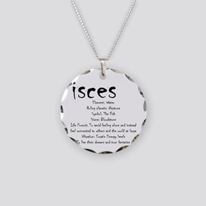 Pisces Traits Necklace Circle Charm