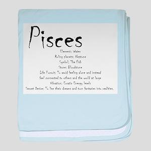 Pisces Traits baby blanket