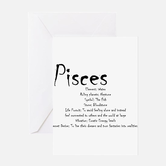 Pisces Traits Greeting Card