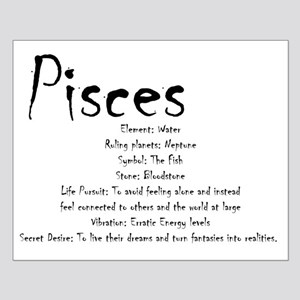 Pisces Traits Small Poster