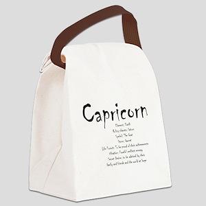 Capricorn Traits Canvas Lunch Bag