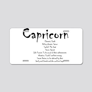 Capricorn Traits Aluminum License Plate